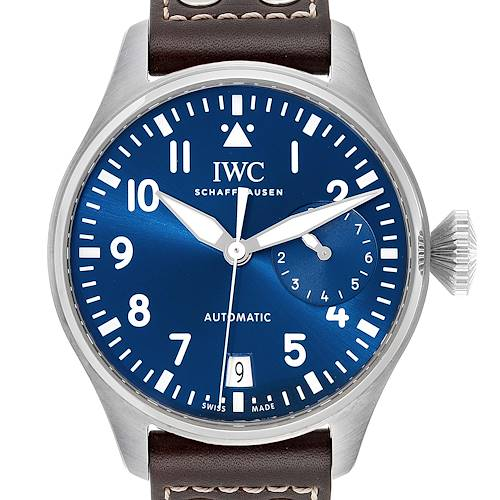 Photo of IWC Pilot Le Petit Prince Big Pilots Blue Dial Mens Watch IW501002 Unworn