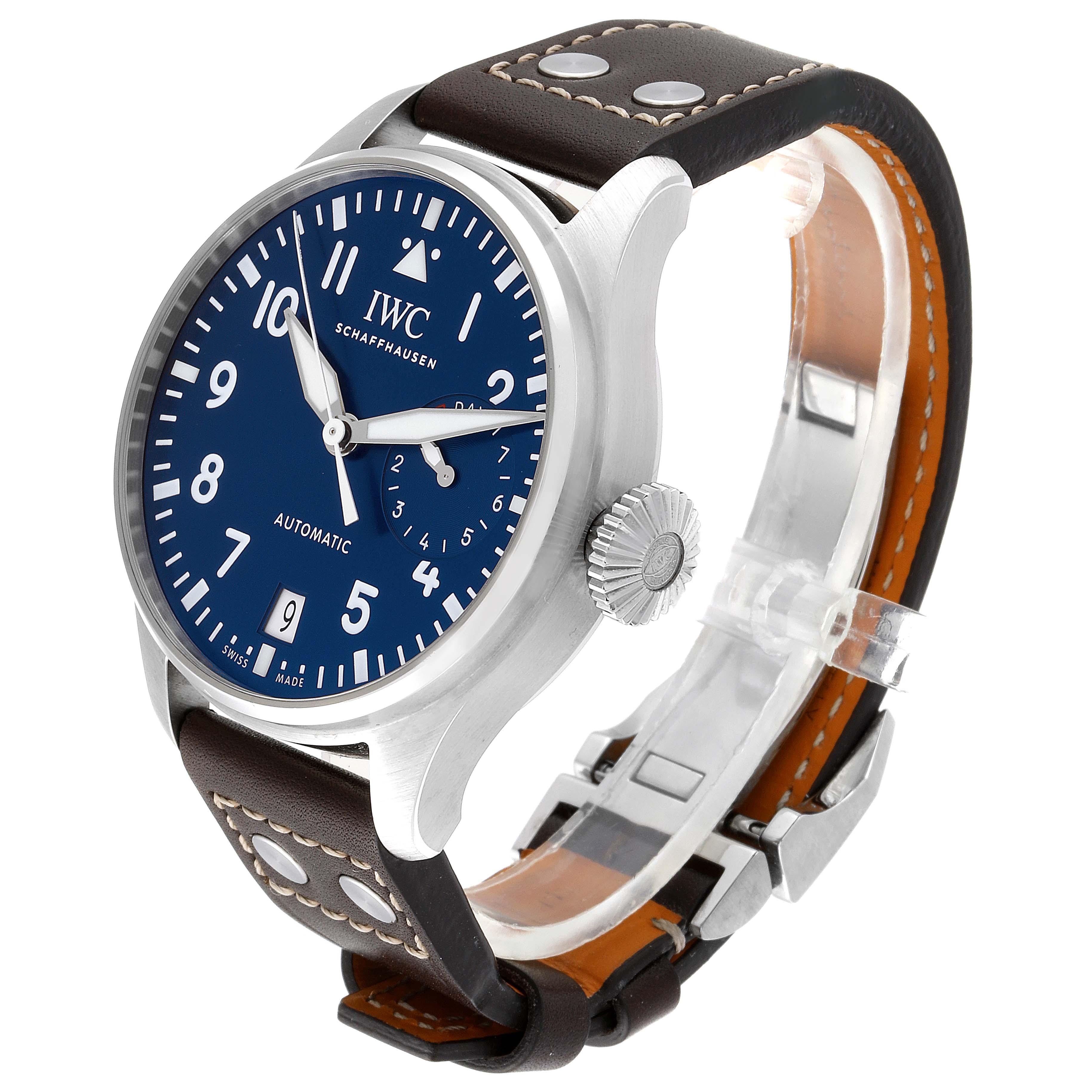 IWC Pilot Le Petit Prince Big Pilots Blue Dial Mens Watch IW501002 Unworn SwissWatchExpo