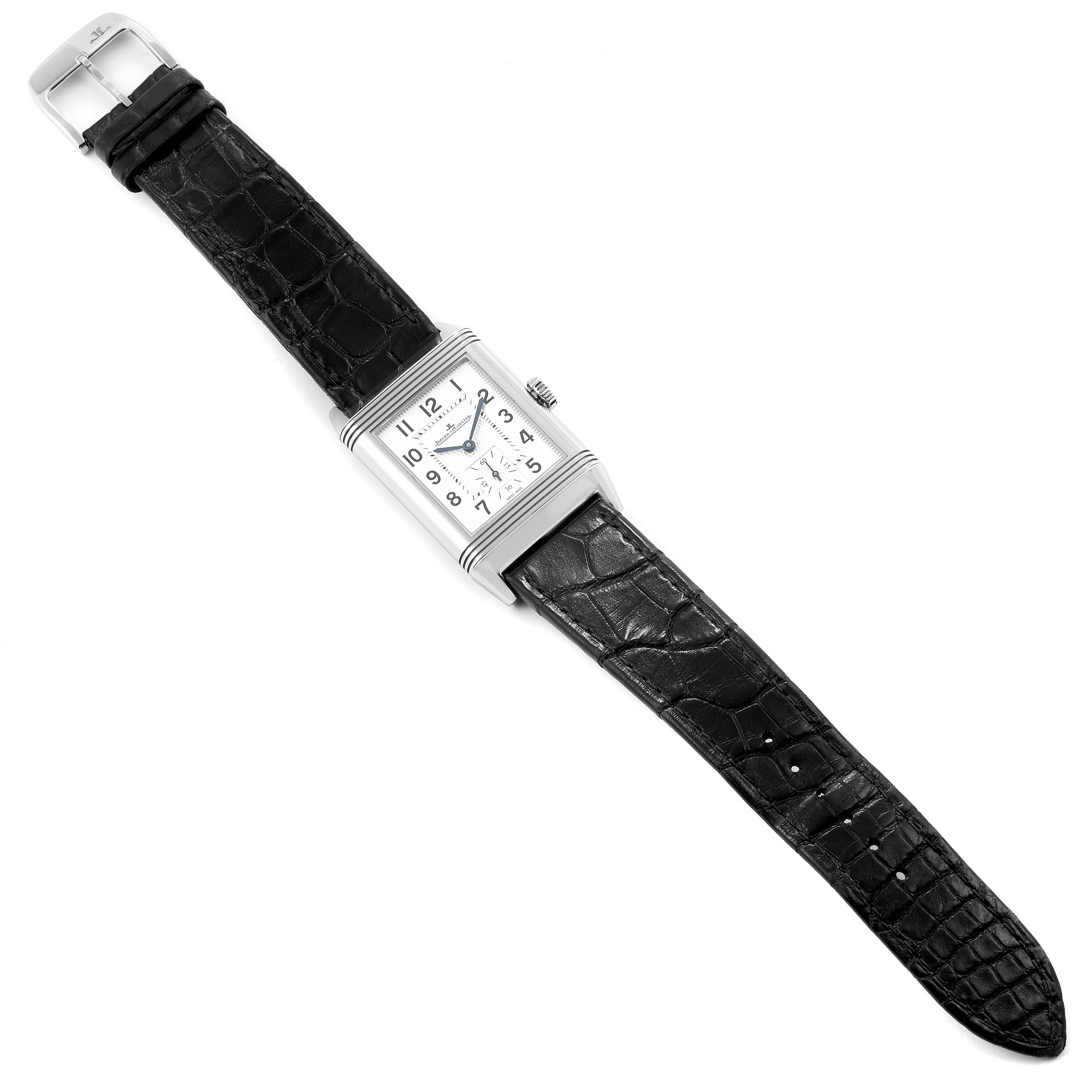 Jaeger LeCoultre Reverso Classic Mens Watch 214.8.62 Q3858520 Box Papers SwissWatchExpo