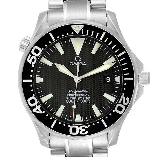 Photo of Omega Seamaster 41 300M Black Dial Steel Mens Watch 2254.50.00 Card