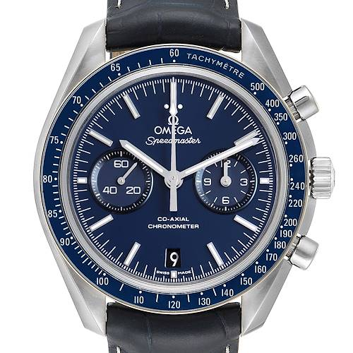Photo of Omega Speedmaster Blue Dial Titanium Mens MoonWatch 311.93.44.51.03.001