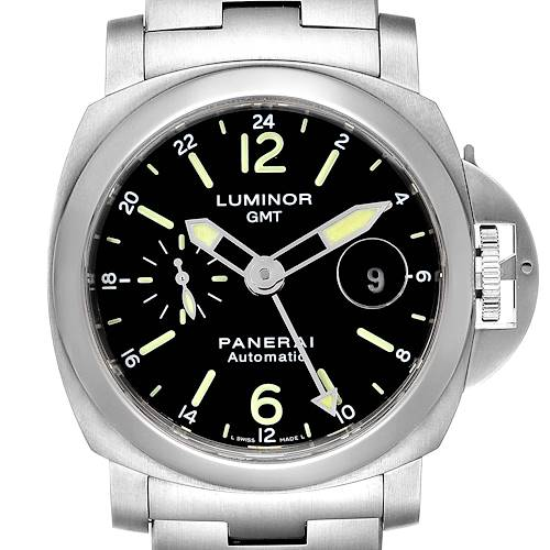 Photo of Panerai Luminor GMT 44mm Steel Mens Watch PAM00297 Box Papers