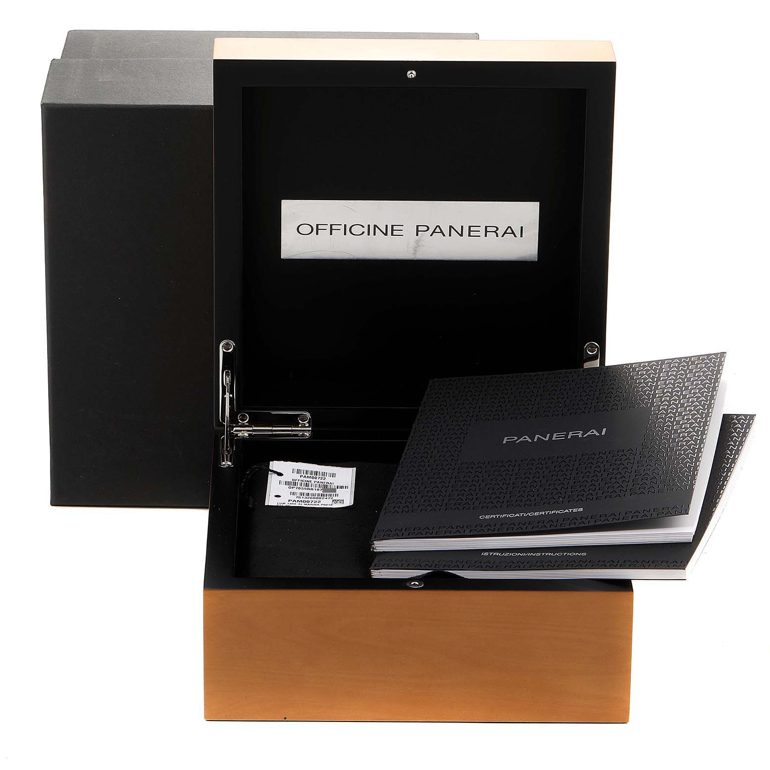 Panerai Luminor Marina 1950 3 Days 42mm Steel Watch PAM00722 Box Papers SwissWatchExpo