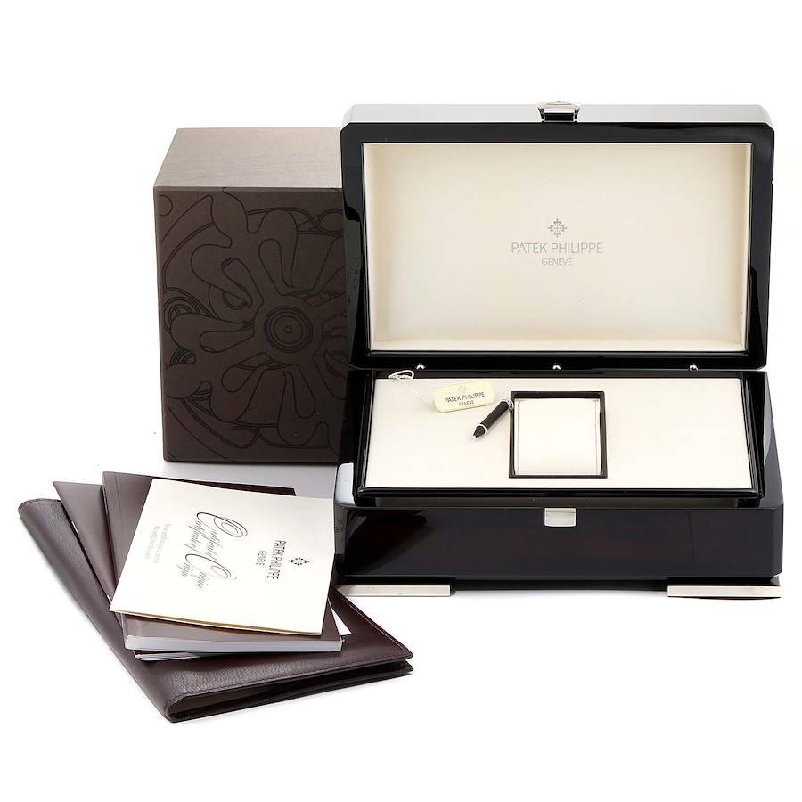 Patek Philippe Calatrava Moonphase White Gold Diamond Ladies Watch 4958 SwissWatchExpo