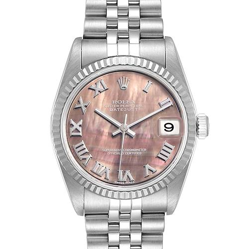 Photo of Rolex Datejust Midsize Steel White Gold MOP Dial Ladies Watch 78274
