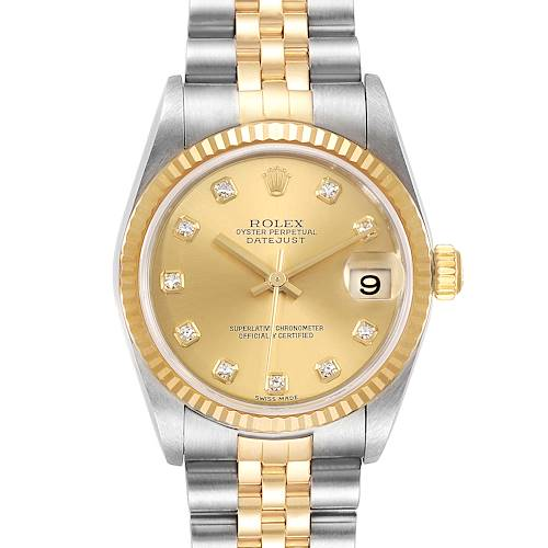 Photo of Rolex Datejust Midsize Steel Yellow Gold Diamond Ladies Watch 78273