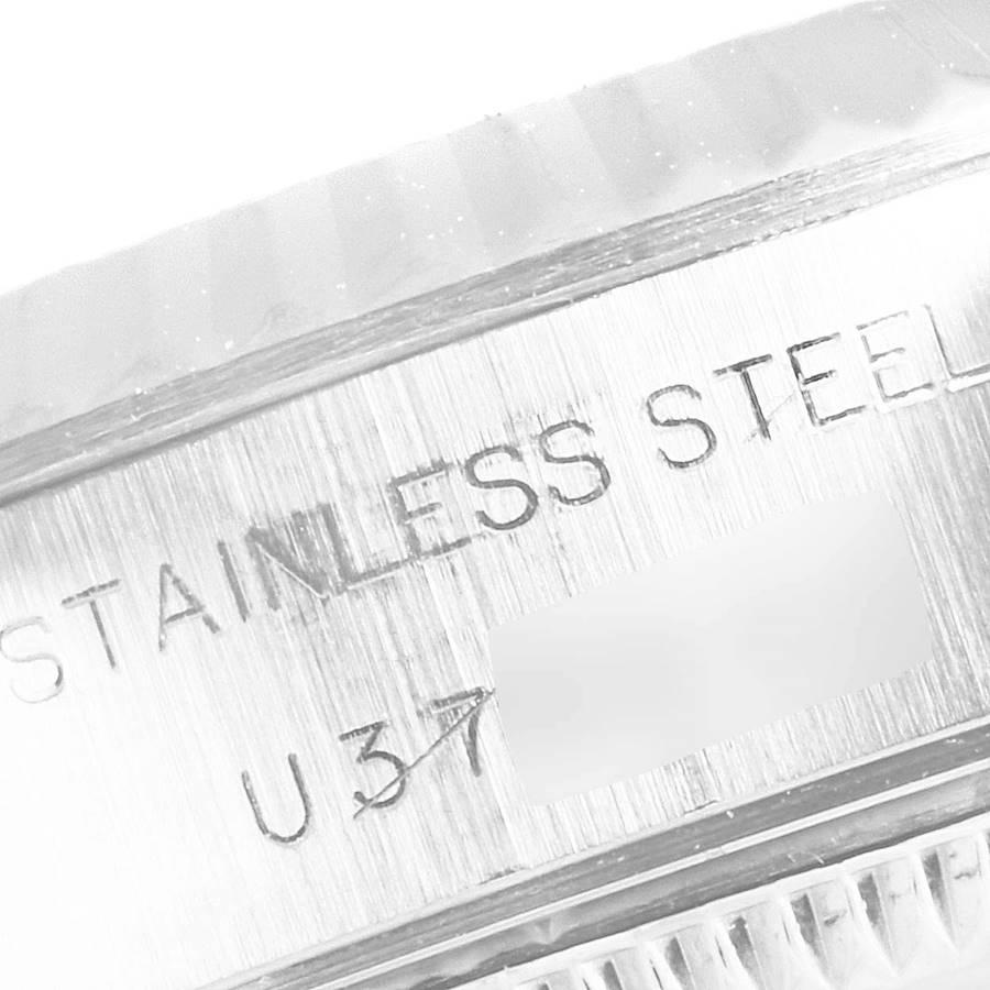 Rolex Datejust Steel White Gold Blue Roman Dial Ladies Watch 69174 SwissWatchExpo
