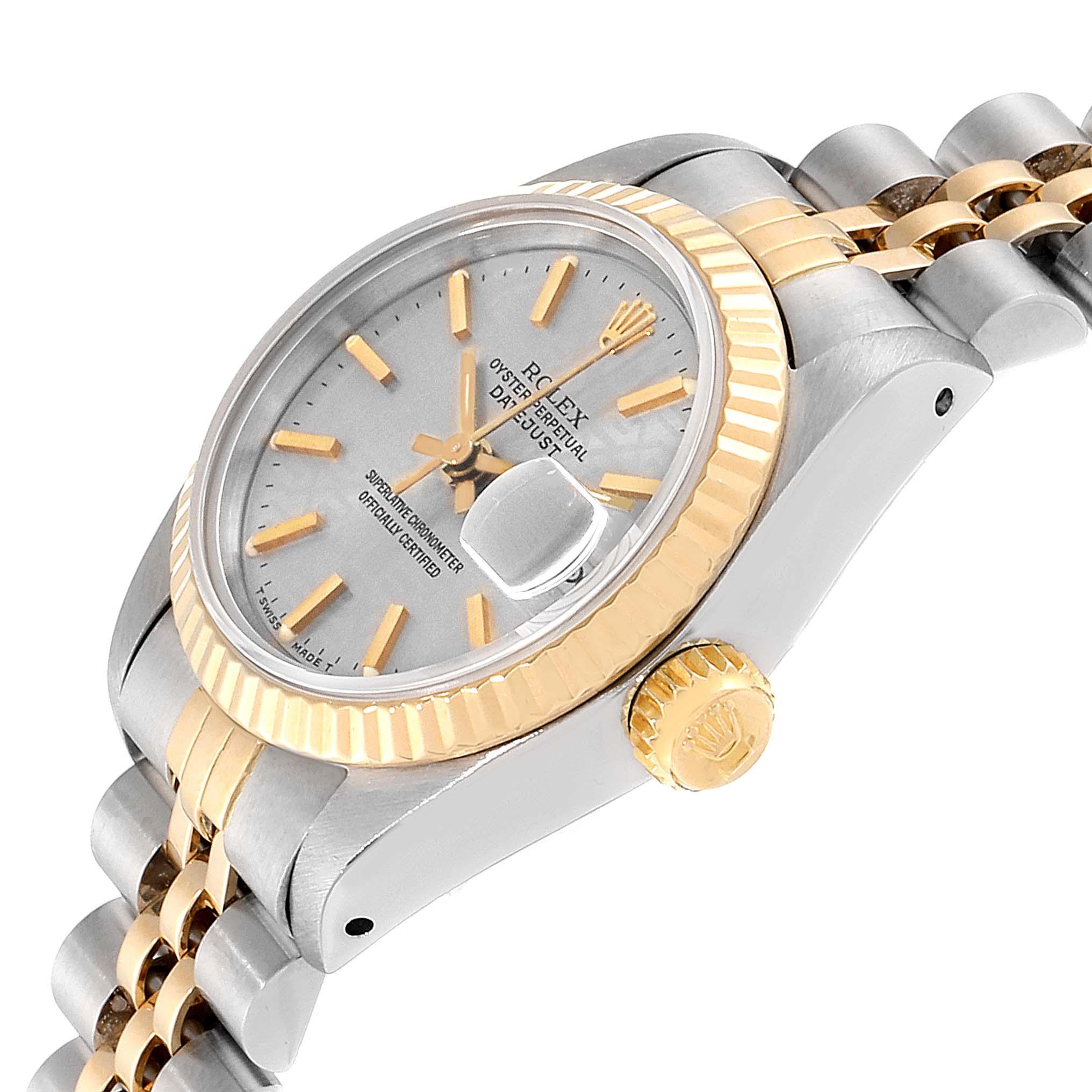 Rolex Datejust Steel Yellow Gold Anniversary Dial Ladies Watch 69173 SwissWatchExpo