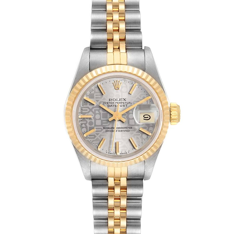 Rolex Datejust Steel Yellow Gold Anniversary Dial Ladies Watch 69173 SwissWatchExpo