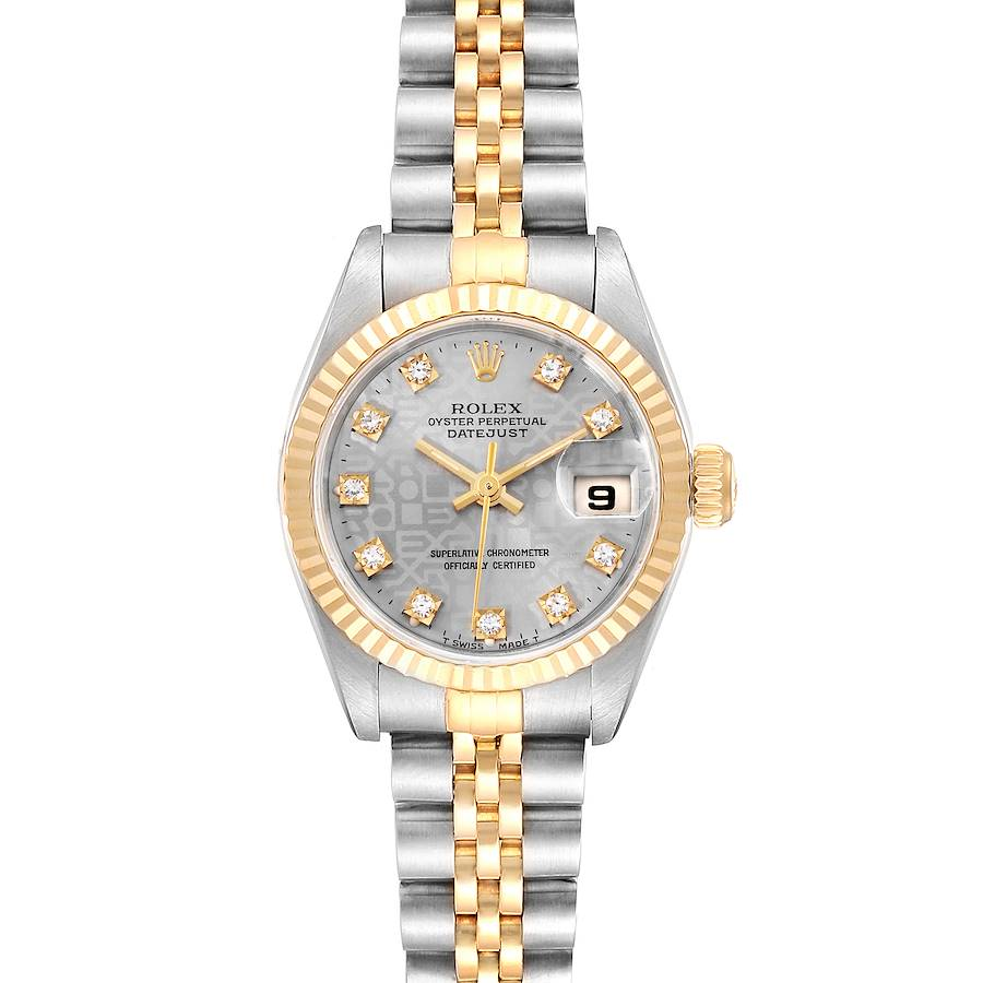 Rolex Datejust Steel Yellow Gold Anniversary Diamond Dial Ladies Watch 69173 SwissWatchExpo