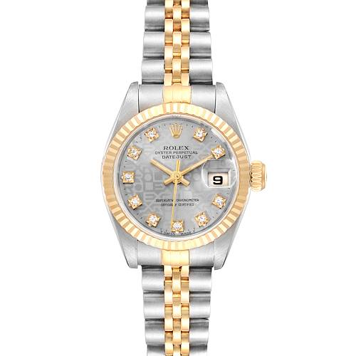 Photo of Rolex Datejust Steel Yellow Gold Anniversary Diamond Dial Ladies Watch 69173