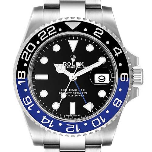 Photo of Rolex GMT Master II Batman Blue Black Ceramic Bezel Steel Watch 116710 Box Paper