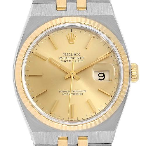Photo of Rolex Oysterquartz Datejust 36mm Steel Yellow Gold Mens Watch 17013