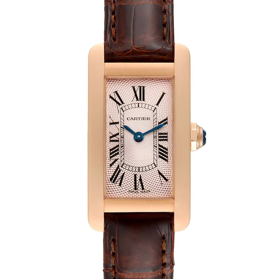 Cartier Tank Americaine Rose Gold Small Ladies Watch 2597 SwissWatchExpo