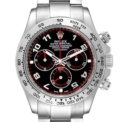 Photo of Rolex Cosmograph Daytona 18K White Gold Black Dial Mens Watch 116509 Box
