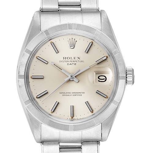 Photo of Rolex Date Stainless Steel Silver Dial Vintage Mens Watch 1501