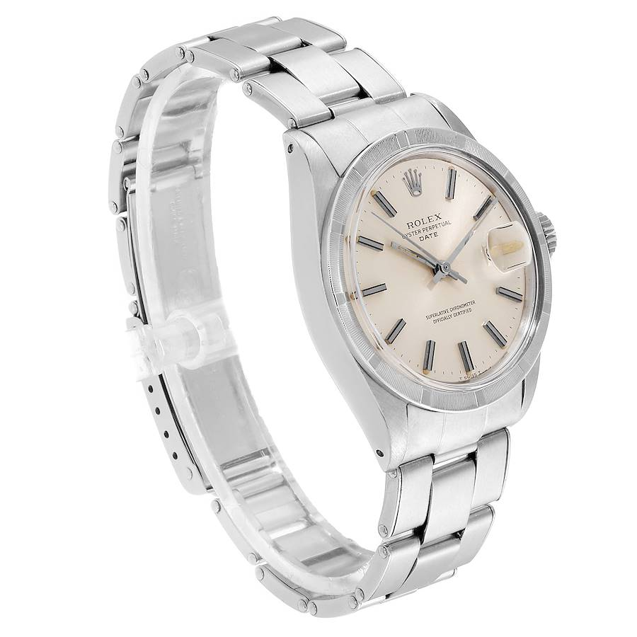 Rolex Date Stainless Steel Silver Dial Vintage Mens Watch 1501 SwissWatchExpo