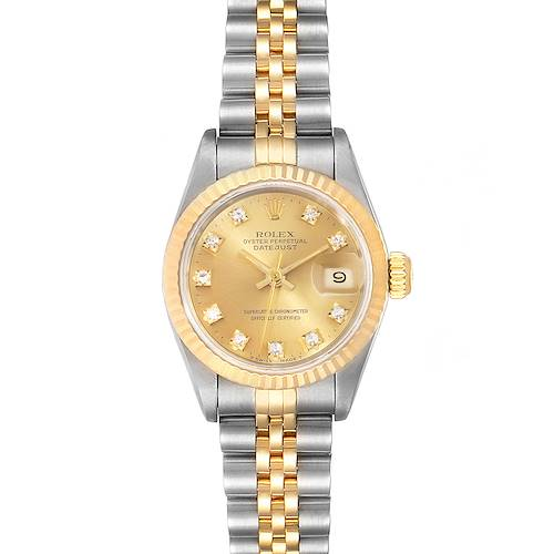 Photo of Rolex Datejust 26mm Steel Yellow Gold Diamond Ladies Watch 69173