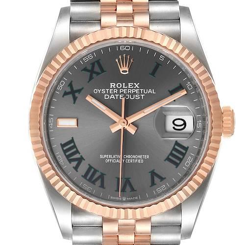Photo of Rolex Datejust 36 Wimbledon Dial Steel EverRose Gold Watch 126231 Unworn