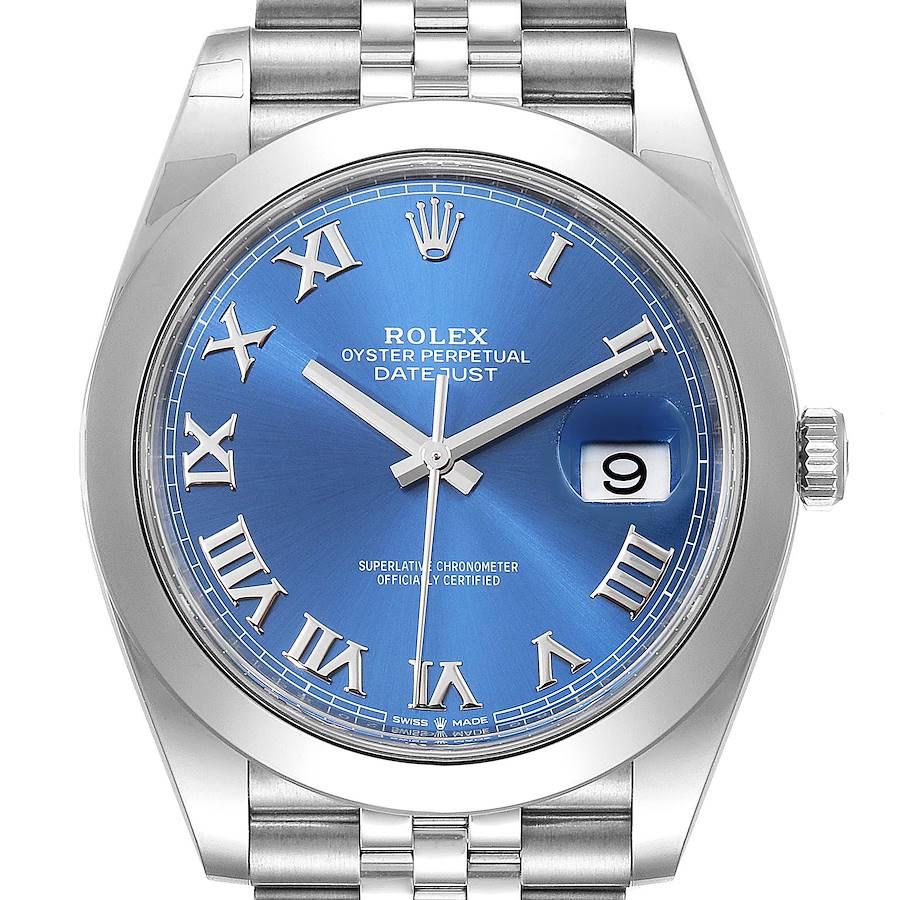 Rolex Datejust 41 Blue Dial Steel Mens Watch 126300 Box Card Unworn SwissWatchExpo