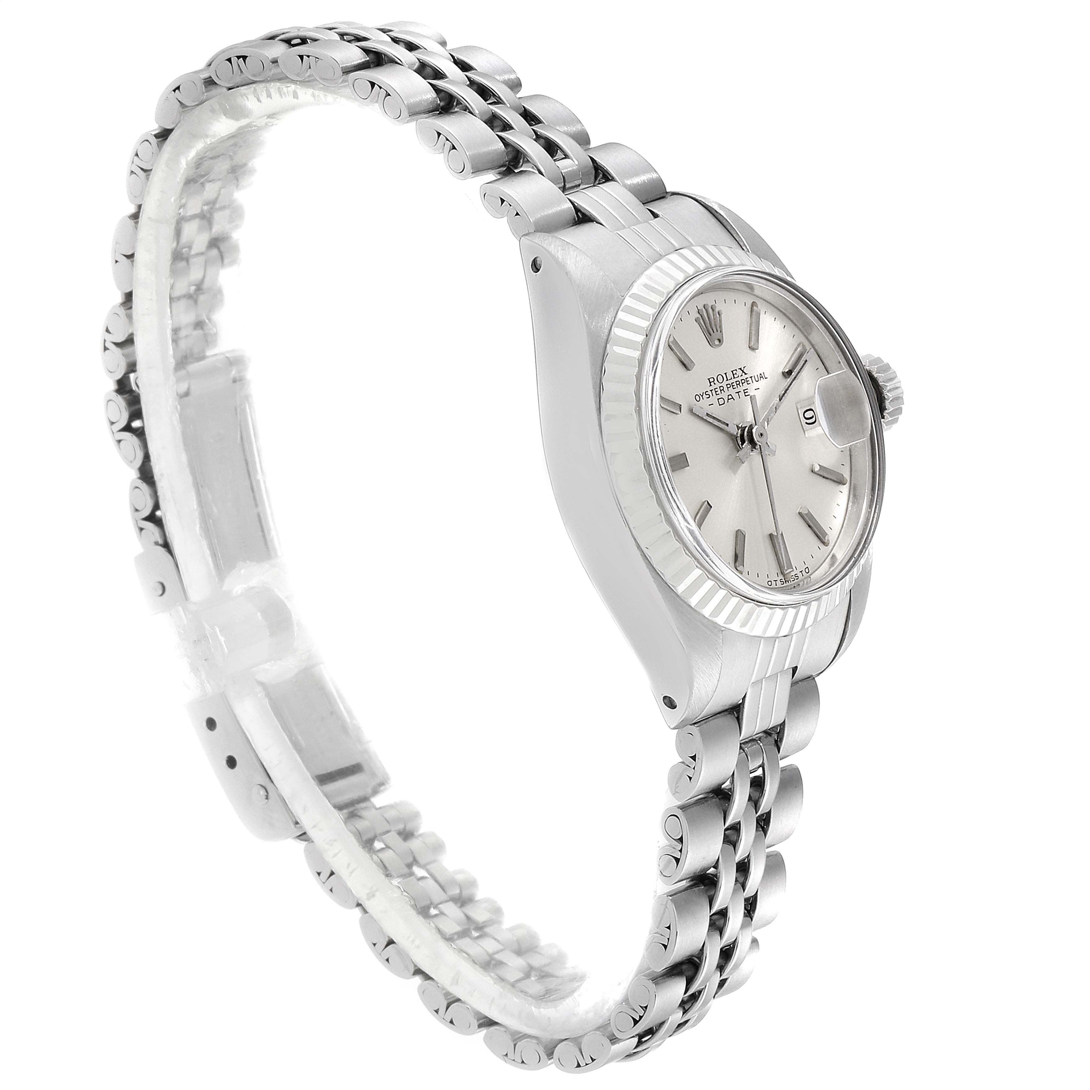Rolex Datejust Steel White Gold Jubilee Bracelet Ladies Watch 6917 SwissWatchExpo