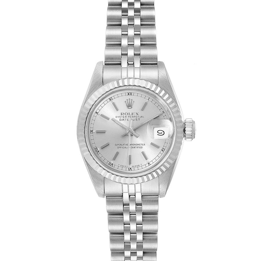 Rolex Datejust Steel White Gold Jubilee Bracelet Ladies Watch 69174 SwissWatchExpo