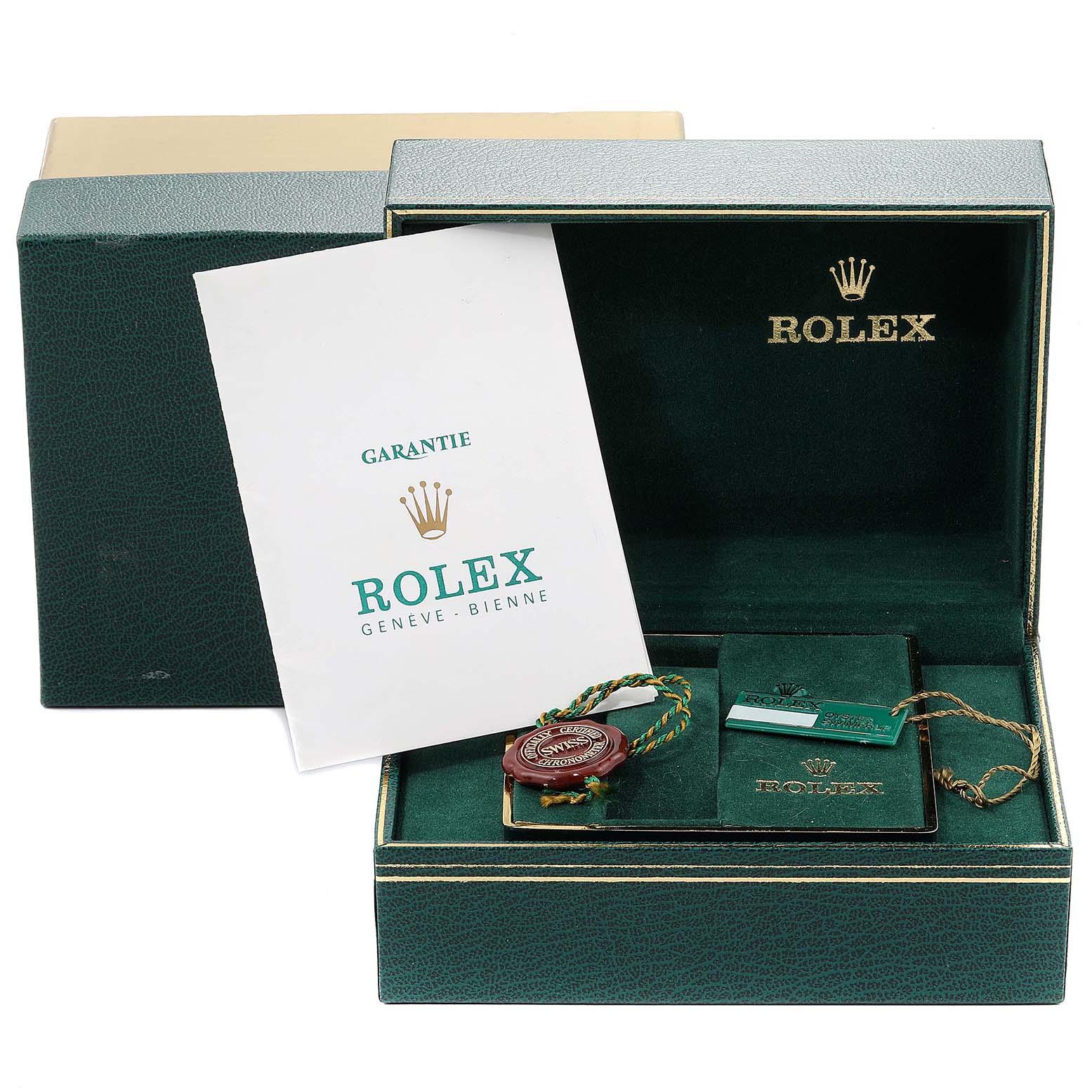 Rolex Datejust Steel Yellow Gold Black Dial Vintage Mens Watch 16013 SwissWatchExpo