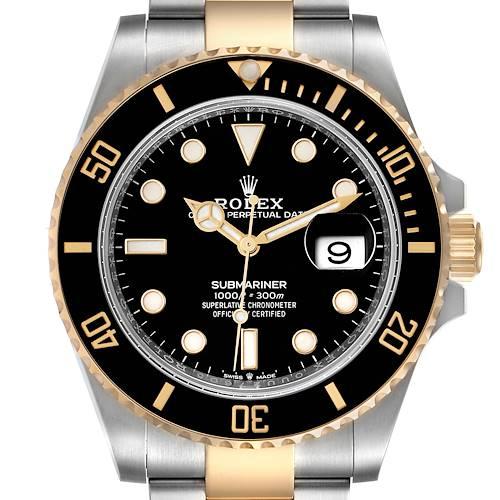 Photo of Rolex Submariner 41 Steel Yellow Gold Black Dial Mens Watch 126613 Unworn