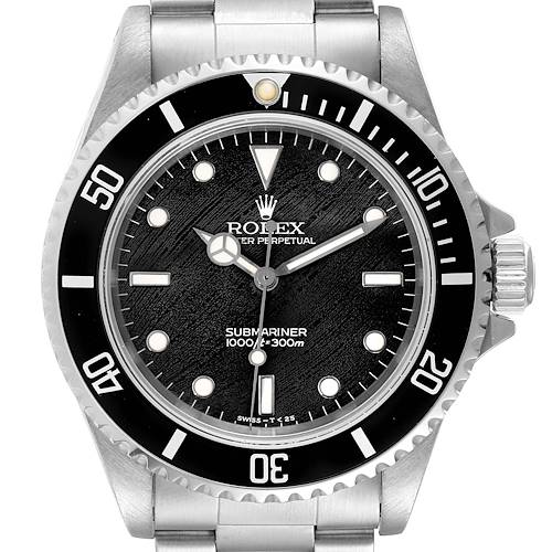 Photo of Rolex Submariner Non-Date 2 Liner Frosted Dial Steel Watch 14060 Box Papers