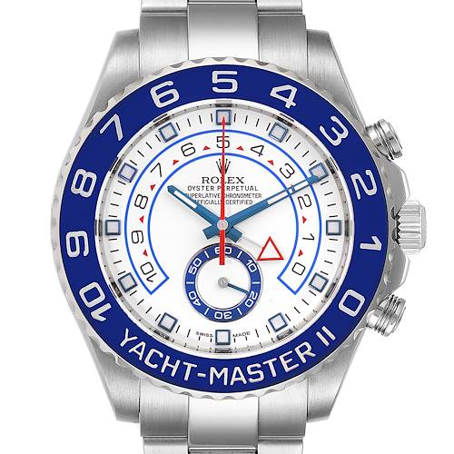 Photo of Rolex Yachtmaster II 44 Blue Cerachrom Bezel Mens Watch 116680