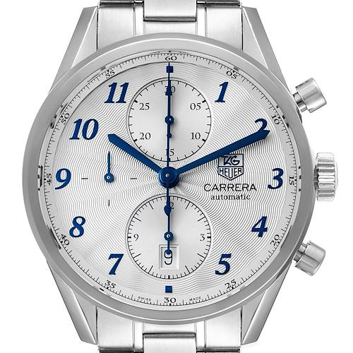 Photo of Tag Heuer Carrera Heritage Chronograph Steel Mens Watch CAS2111