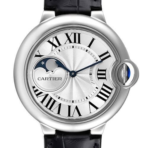 Photo of Cartier Ballon Bleu Moonphase Automatic Steel Mens Watch WSBB0020 Unworn