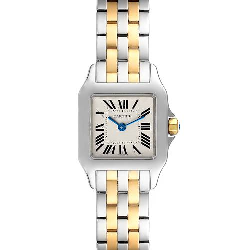 Photo of Cartier Santos Demoiselle Steel Yellow Gold Ladies Watch W25066Z6
