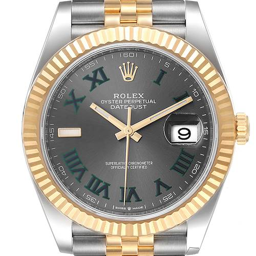 Photo of Rolex Datejust 41 Steel Yellow Gold Wimbledon Mens Watch 126333 Unworn