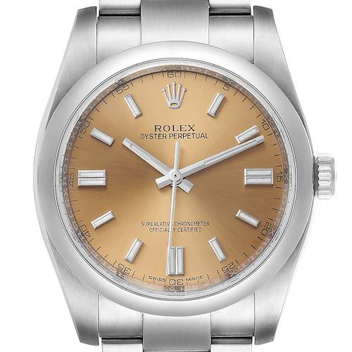 Photo of Rolex Oyster Perpetual 36 White Grape Dial Steel Mens Watch 116000
