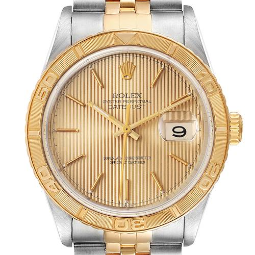 Photo of Rolex Datejust Turnograph Steel Yellow Gold Mens Watch 16263 Box Papers