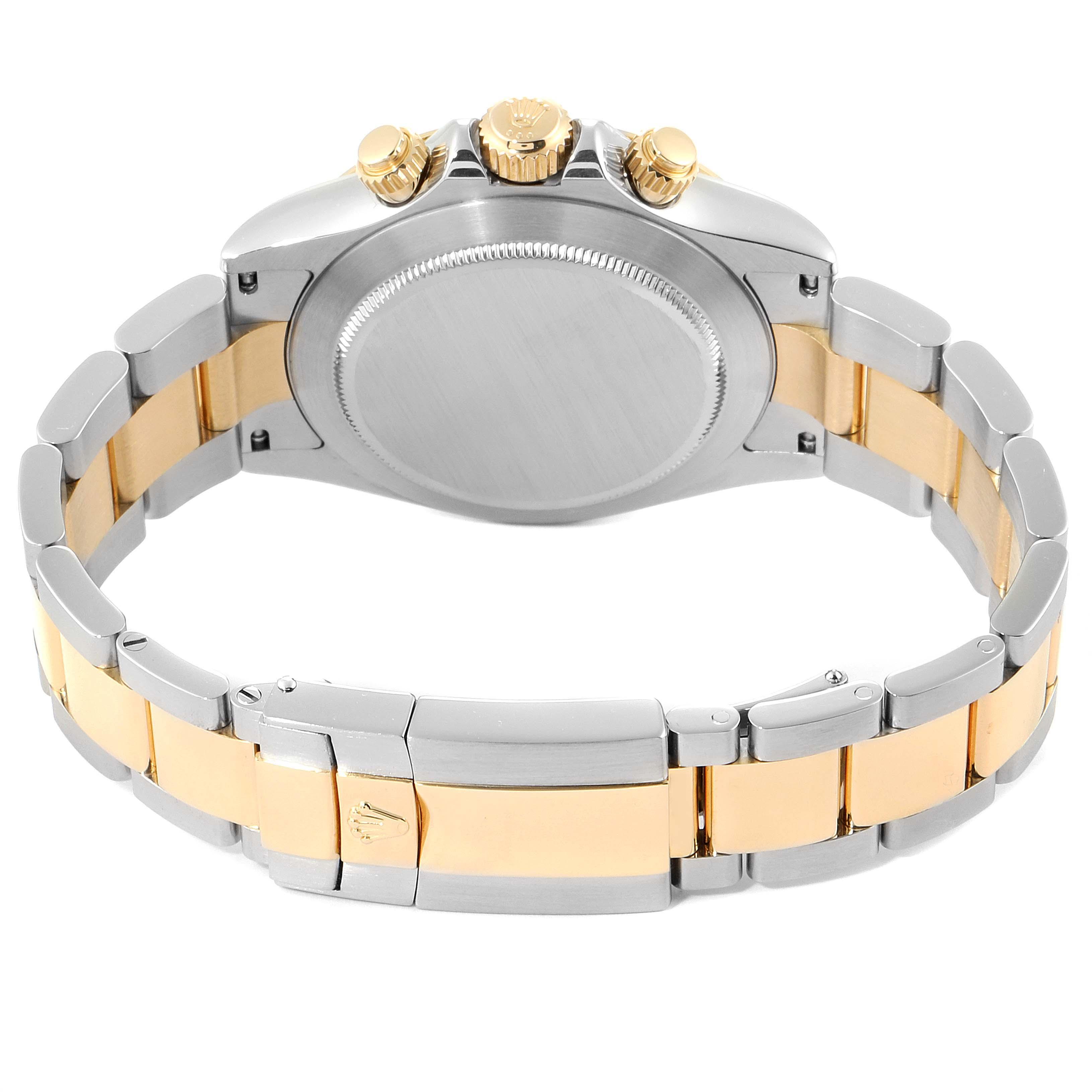 Rolex Daytona Steel Yellow Gold Slate Dial Mens Watch 116523 Box SwissWatchExpo
