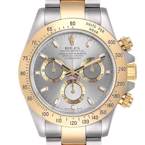 Photo of Rolex Daytona Steel Yellow Gold Slate Dial Mens Watch 116523 Box