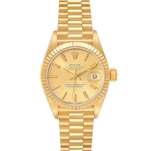 Photo of Rolex President Datejust 18K Yellow Gold Champagne Dial Ladies Watch 69178