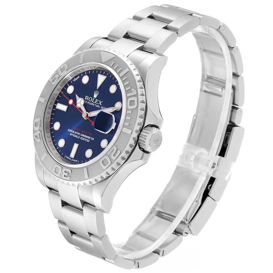 Rolex Yachtmaster 40mm Steel Platinum Blue Dial Mens Watch 116622 SwissWatchExpo
