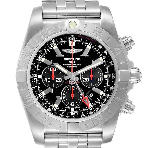 Photo of Breitling Chronomat GMT Black Dial Limited Edition Mens Watch AB0412 Box Card
