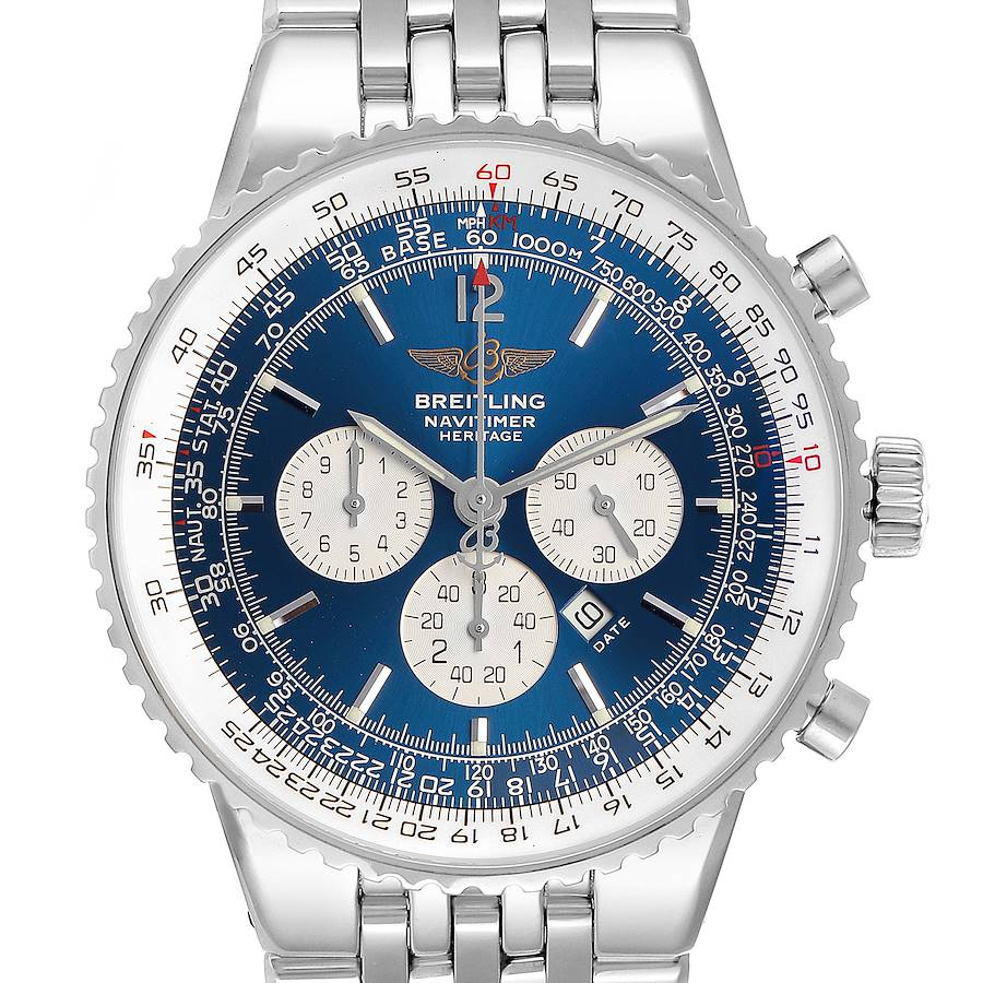 Breitling Navitimer Heritage Blue Dial Automatic Mens Watch A35340 SwissWatchExpo