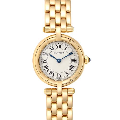 Cartier Panthere VLC 18K Yellow Gold Silver Dial Ladies Watch 8057921