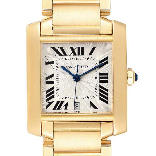 Photo of Cartier Tank Francaise Large Yellow Gold Automatic Mens Watch W50001R2