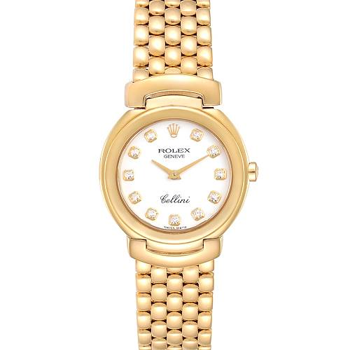 Rolex Cellini Yellow Gold Ladies Watch 6621 Box Papers