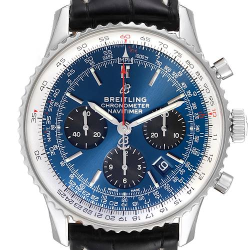 Photo of Breitling Navitimer 01 Blue Dial Limited Edition Mens Watch AB0121 Unworn