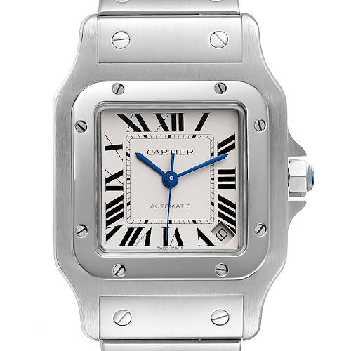 Photo of Cartier Santos Galbee XL Automatic Steel Unisex Watch W20098D6 Box Papers