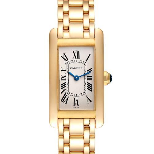 Photo of Cartier Tank Americaine 18K Yellow Gold Ladies Watch W26015K2