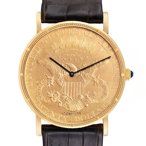 Photo of Corum 20 Dollars Double Eagle Yellow Gold Coin Manual Mens Watch
