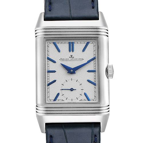 Photo of Jaeger LeCoultre Reverso Duo Tribute Watch 213.8.D4 Q3908420 Box Papers
